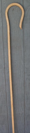 67 inch Oak Shepherd's Crook finished in hand rubbed Tung oil